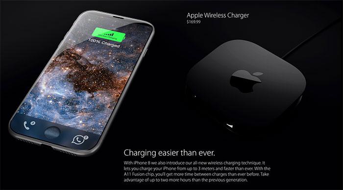iPhone 8 - carga inalámbrica