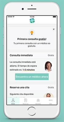 Aplicación VIDA - Consultas médicas en tu iPhone (Interfaz de usuario)