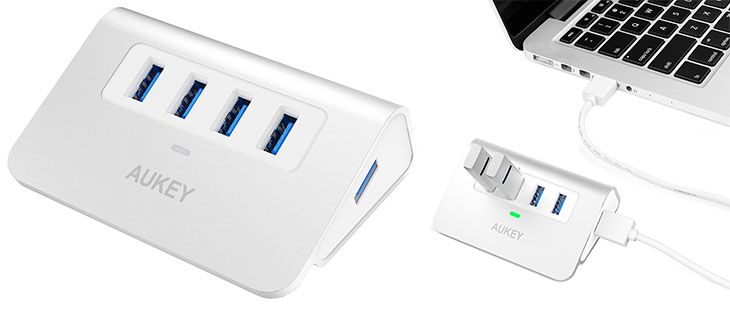 Hub USB 3.0 bus-powered de 4 puertos USB - Aukey CB-H5