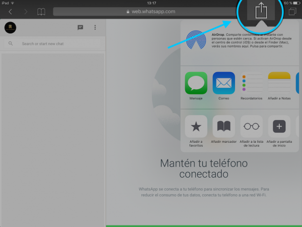 WhatsApp web en el iPad - Tutorial - Paso 13