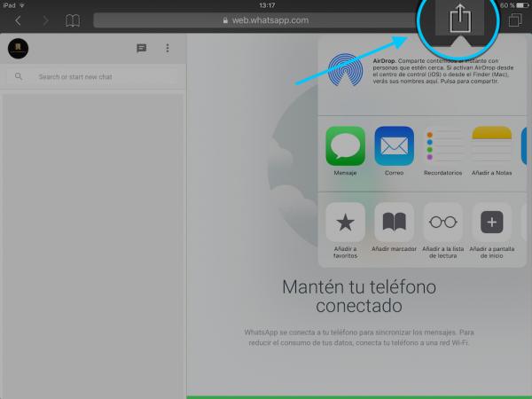 WhatsApp web en el iPad - Tutorial - Paso 13