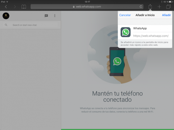 WhatsApp web en el iPad - Tutorial - Paso 15