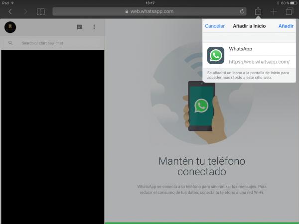 WhatsApp web en el iPad - Tutorial - Paso 15
