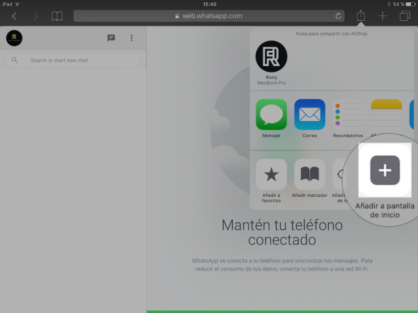 WhatsApp web en el iPad - Tutorial - Paso 14