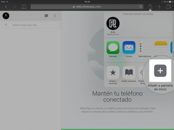 WhatsApp web en el iPad - Tutorial - Paso 14