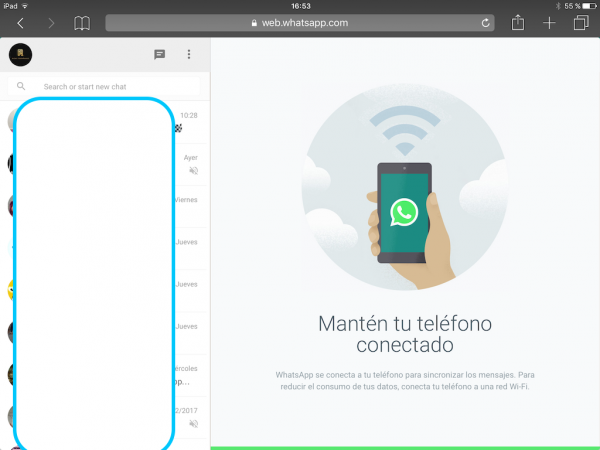WhatsApp web en el iPad - Tutorial - Paso 17