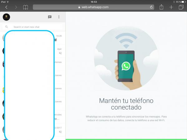 WhatsApp web en el iPad - Tutorial - Paso 17