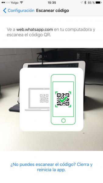WhatsApp web en el iPad - Tutorial - Paso 12