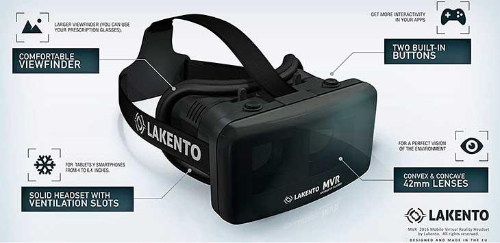 Gafas de realidad virtual para iPhone con 2 juegos incluidos - Lakento MVR V4