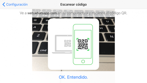 WhatsApp web en el iPad - Tutorial - Paso 10