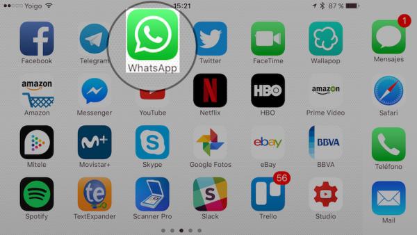 WhatsApp web en el iPad - Tutorial - Paso 7