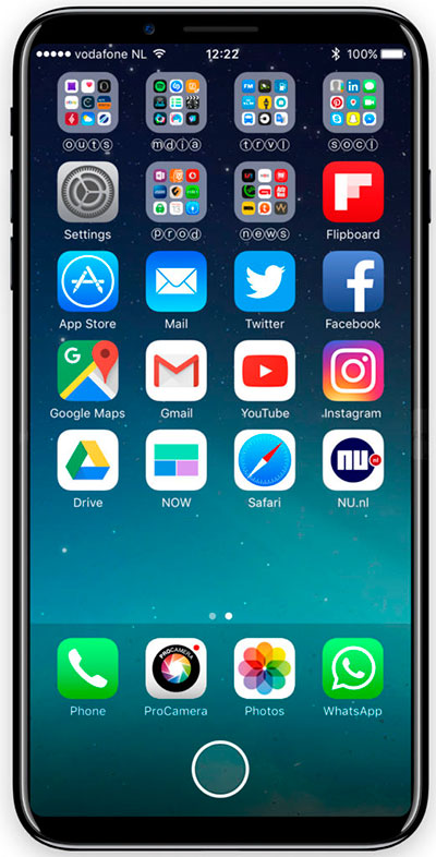 iPhone 8 - area de función