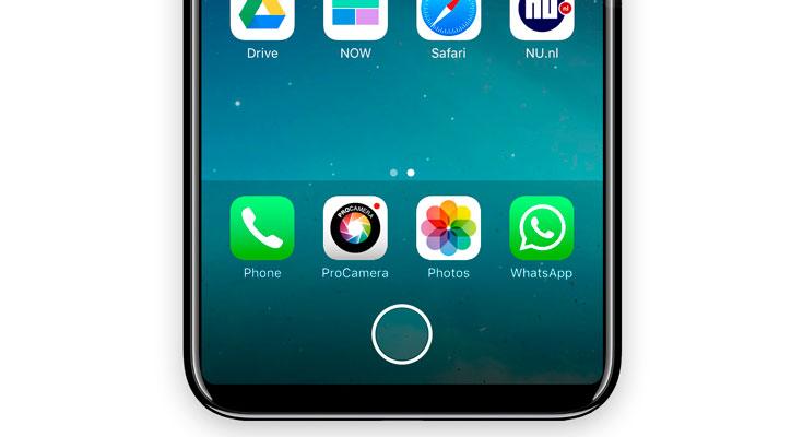Así sería un iPhone 8 con un área de función tipo Touch Bar [Concepto]