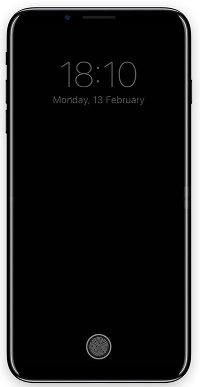 iPhone 8 - área de función - pantalla apagada