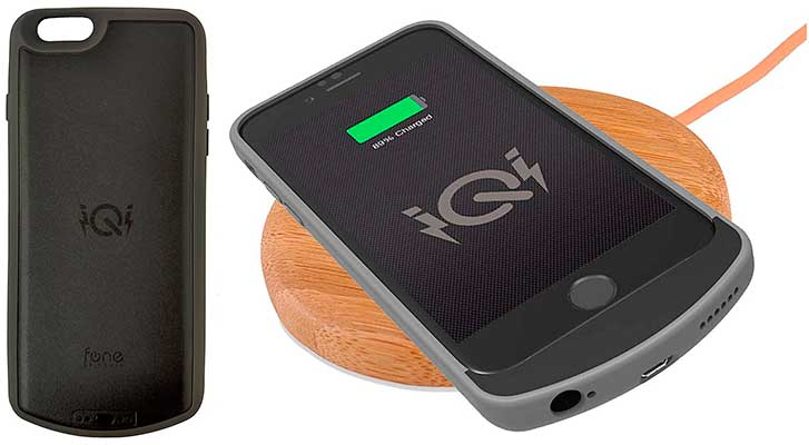 Funda-batería con receptor de carga inalámbrica Qi para iPhone - iQi PWRcase
