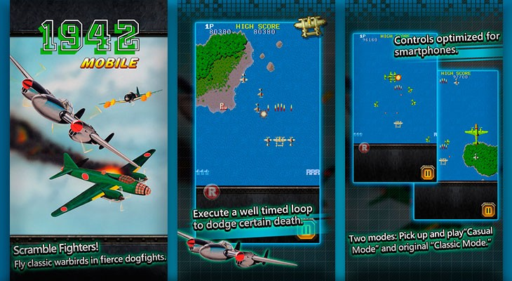 """Ya podemos jugar al clásico arcade """"1942"""" en nuestro iPhone"""