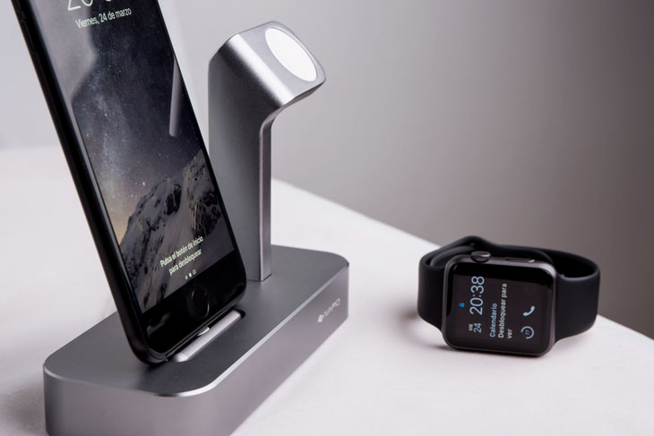 Esta es la base de carga ideal para iPhone y Apple Watch