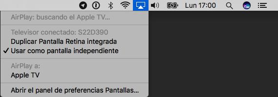 Cómo elegir pantalla en AirPlay para Mac