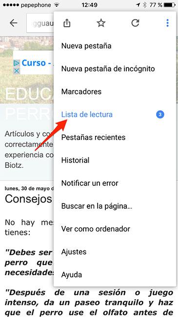 Chrome_Lista_Lectura
