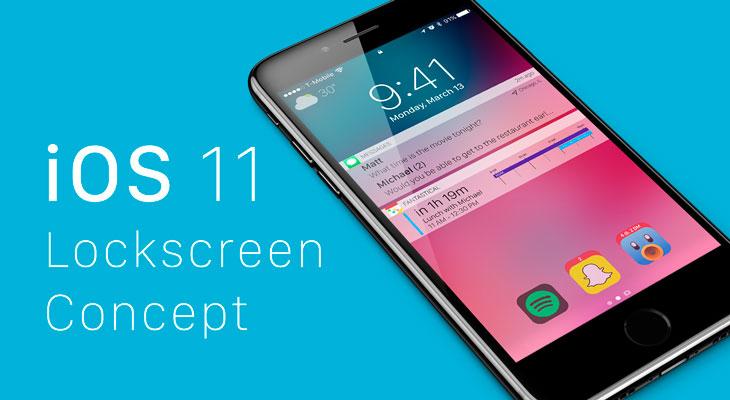 Este concepto de iOS 11 propone una pantalla de bloqueo renovada