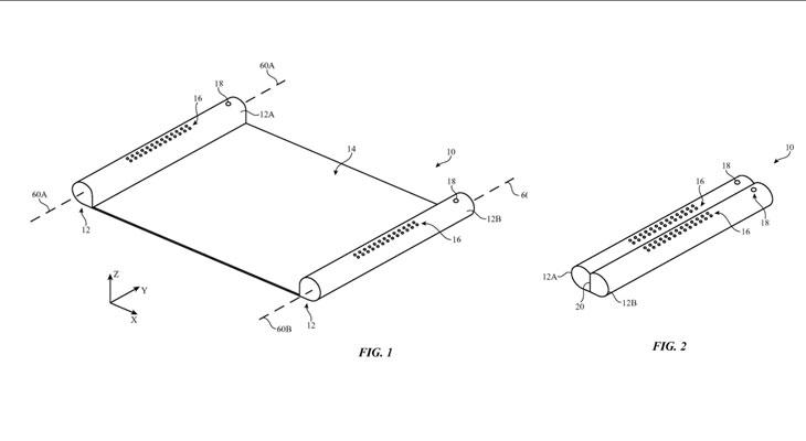 Apple patenta un iPhone con pantalla retráctil que queda enrollado como un papiro