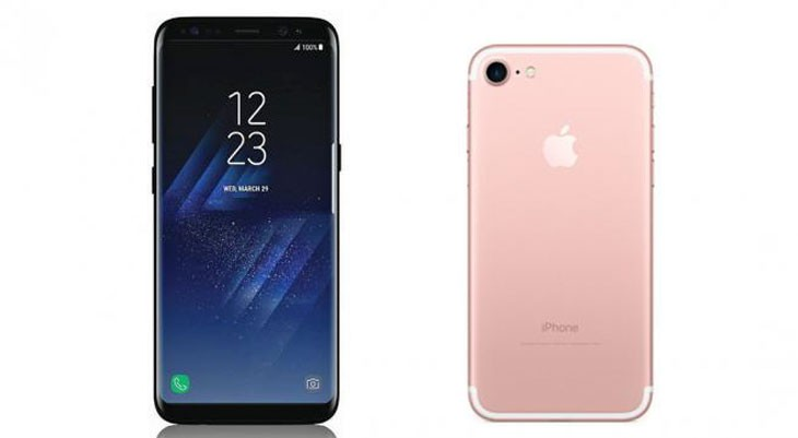 Comparativa de especificaciones entre el Galaxy S8 y S8 Plus y el iPhone 7 y iPhone 7 Plus