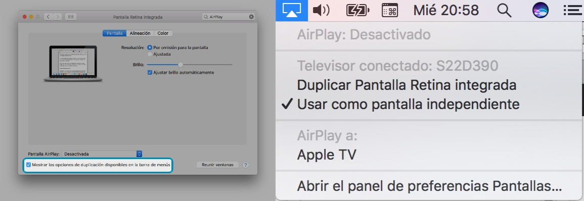 Pasos AirPlay macOS