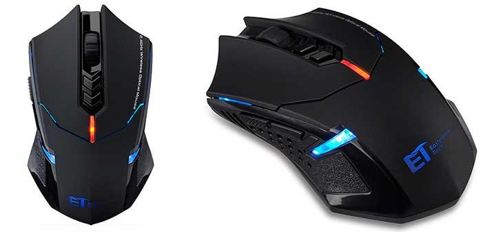 Ratón óptico inalámbrico para gaming - VicTsing CA32-es2