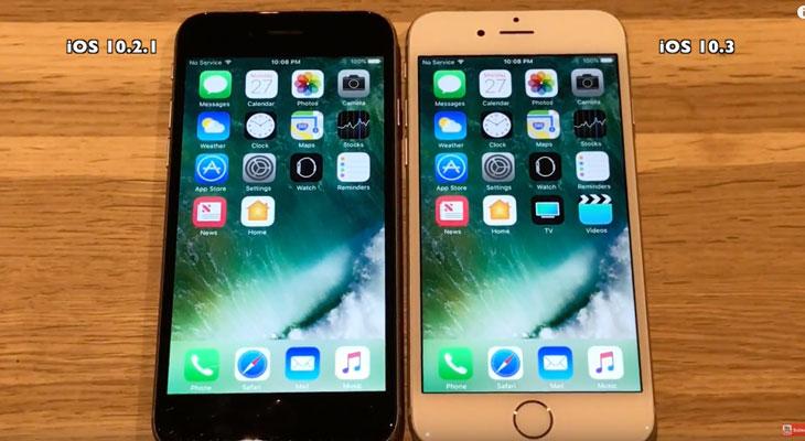 Comparativa de velocidad entre iOS 10.2.1 y iOS 10.3 ¿cuál va más rápido?