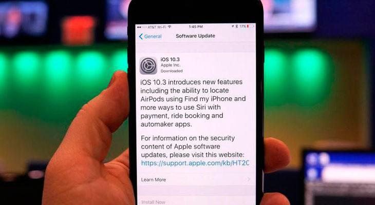 iOS 10.3 está liberando espacio de almacenamiento según algunos usuarios