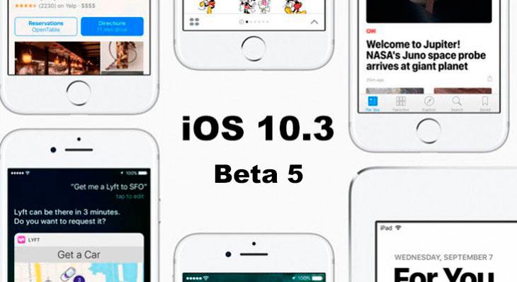 La beta 5 de iOS 10.3 ya está disponible para desarrolladores y testers públicos