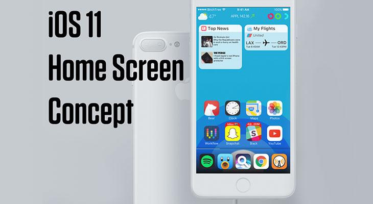 Este concepto de iOS 11 propone una pantalla de inicio totalmente renovada