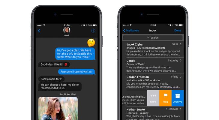 Este concepto de iOS 11 propone un modo oscuro, llamadas de FaceTime grupales o pantalla dividida [Video]