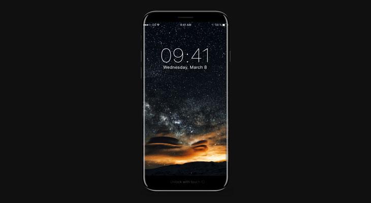 Así podría ser un iPhone 8 sin marcos y con área de función [Concepto]
