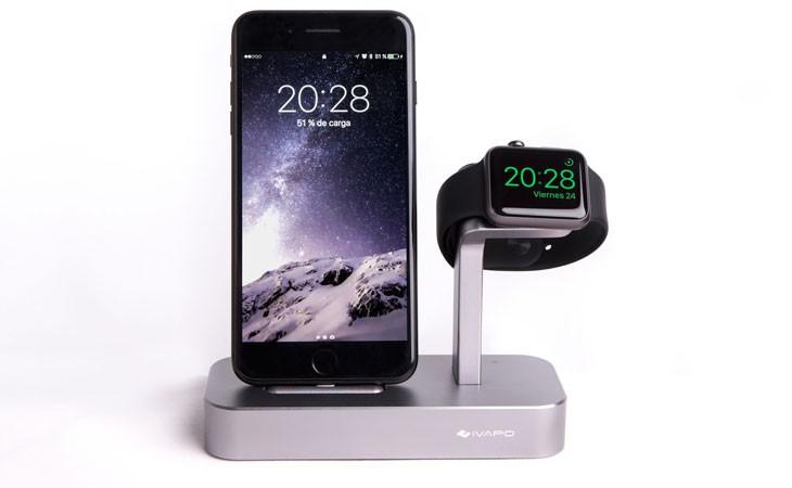 Base de carga iVAPO para iPhone y Apple Watch