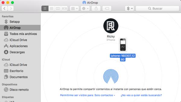 Usar AirDrop en Mac - paso 4