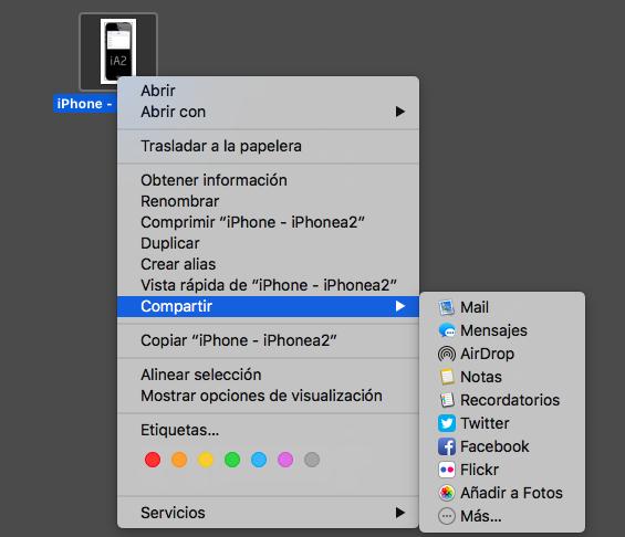 Usar AirDrop en Mac - método 2 - paso 3