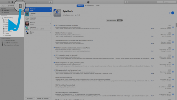Restaurar iPhone o iPad con iTunes - Paso 1