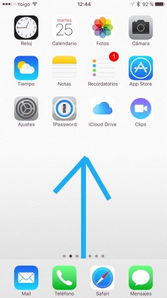 Activar AirDrop en iPhone y iPad - paso 1