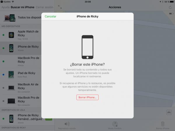Restaurar iPhone o iPad con iCloud - Paso 5