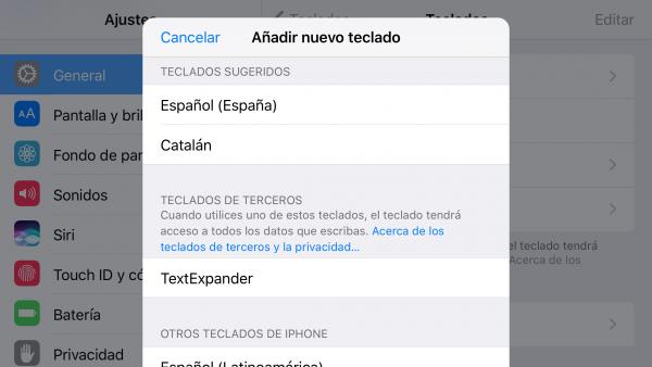 Corrector ortográfico en catalán para iOS - paso 2