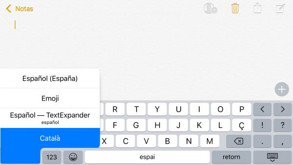 Corrector ortográfico en catalán para iOS - paso 4