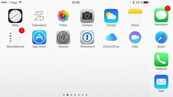 Compartir apps con AirDrop - paso 1