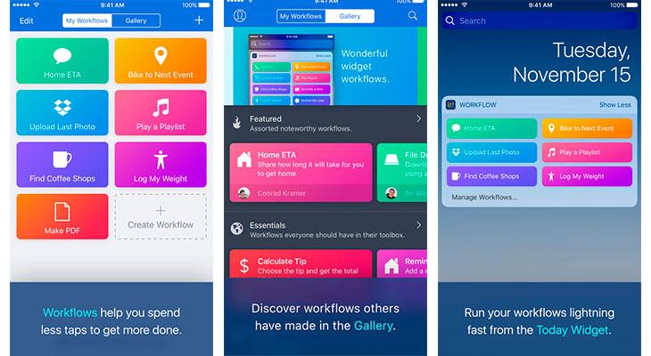 Apple ha empezado a reembolsar el dinero a los clientes que compraron Workflow recientemente