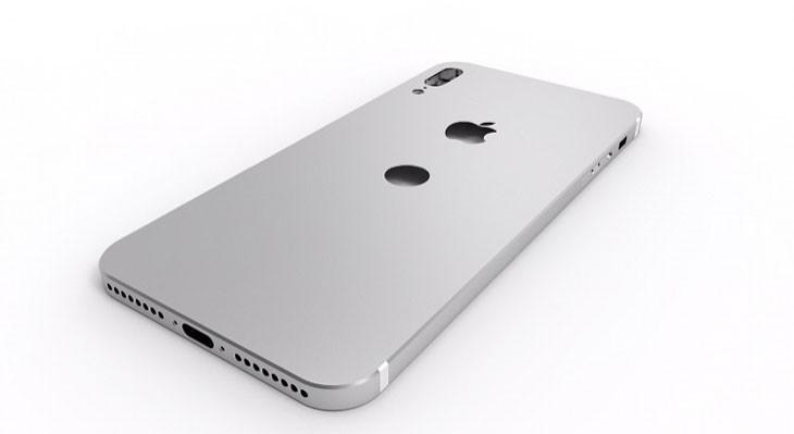 Nuevo render del iPhone 8 con cámara vertical y un agujero bajo el logo de Apple