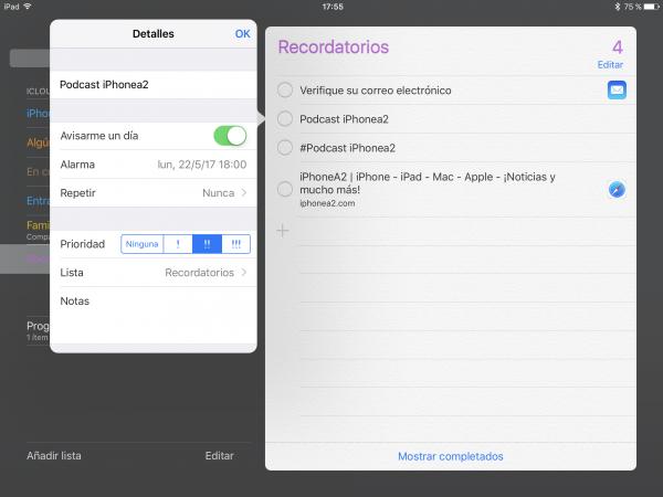 Alarmas Recordatorios Apple