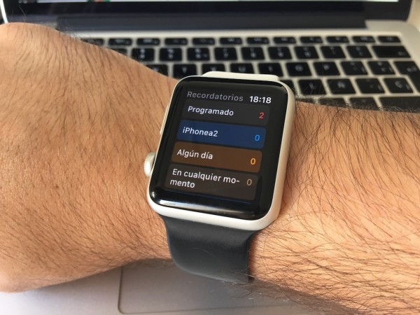 Recordatorios Apple Watch