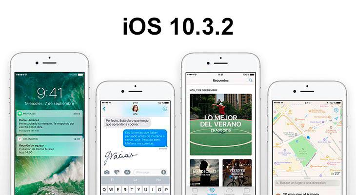 iOS 10.3.2 ya está disponible para descargar