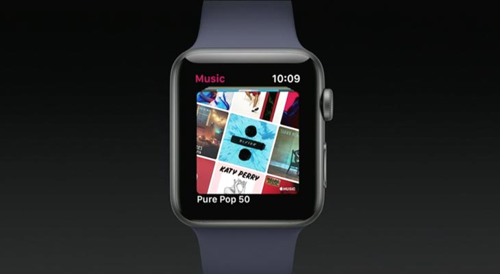 Mejoras en la App de Apple Music para Apple Watch