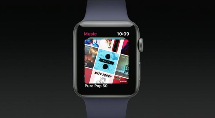 Mejoras en la App de Apple Music para Apple Watch